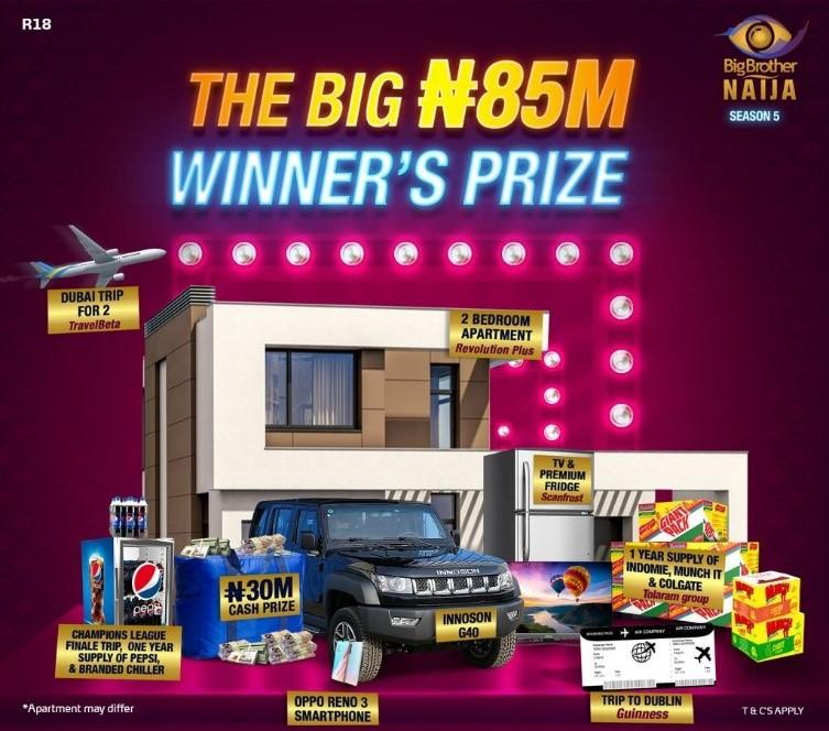 BBNaija season 5 prizes
