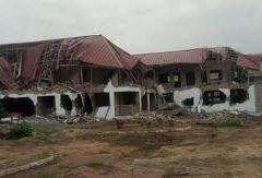 Destoyed Nigeria Embassy In Ghana