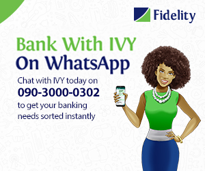 Fidelity Bank IVY advert