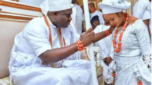 Ooni of Ife, Oba Adeyeye Ogunwusi, announced the arrival of His New Prince
