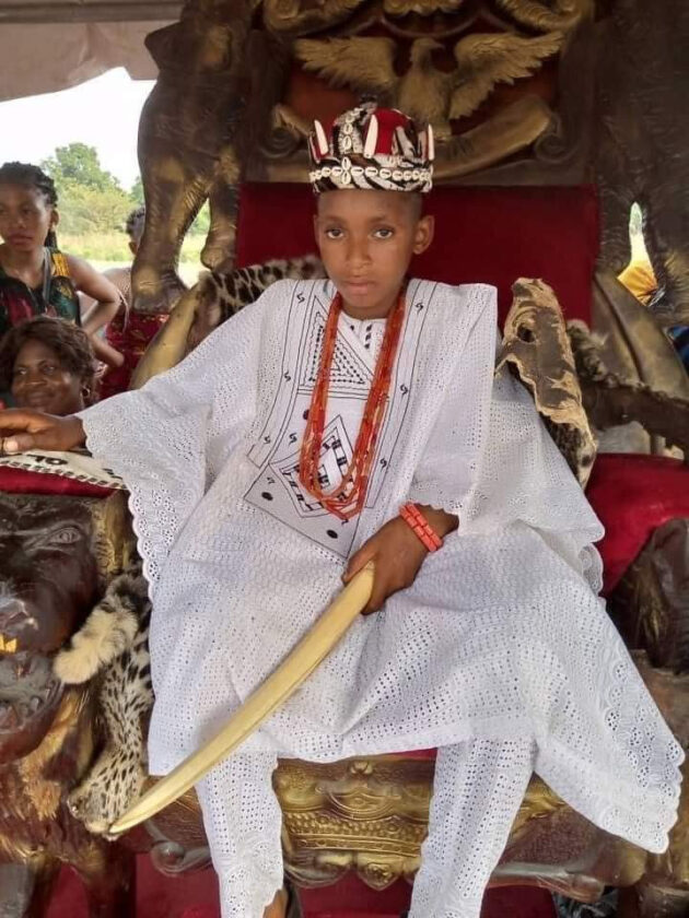 10-year-old boy crowned King As Igwe Olanme ii of Iyiora In Anambra