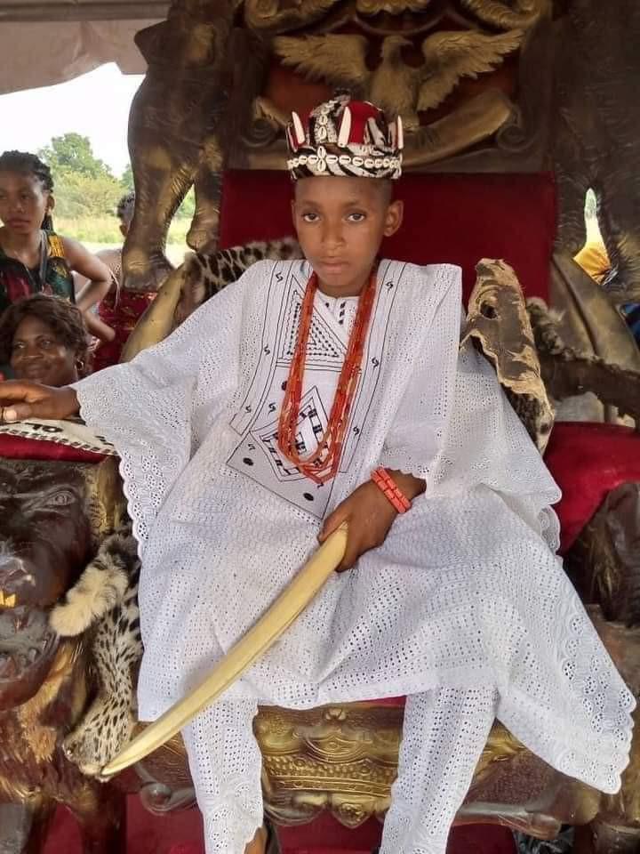 10-year-old boy crowned King As Igwe Olanme ii of Iyiora In Anambra