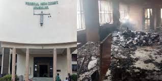 Hoodlums set ablaze Federal High Court Abakaliki, injure two guards