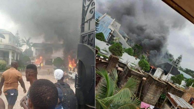 2 Security Aides Kill As Gunmen raze Gov. Uzodinma's country home In Oru East LGA
