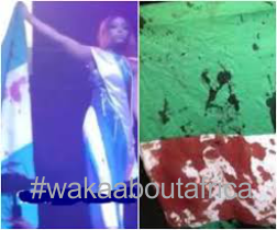 Miss Africa Russia Pageant: Udeh Chiamaka Victoria Walks Runway With Blood-Stained Nigerian Flag
