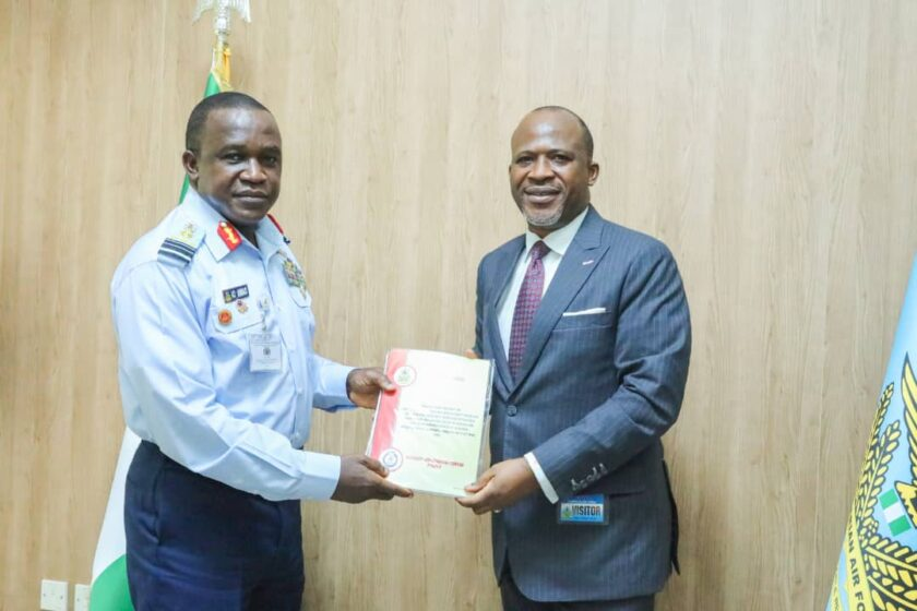 AIB Submits NAF's King Air 350 Aircraft Crash Preliminary Report To Chief Of Air Staff