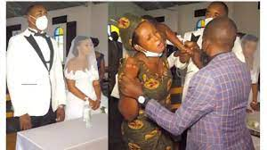 Woman Disrupt Church Wedding After Catching Husband Marrying Another Woman